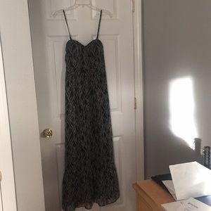 AEO Medium Printed Corset Maxi Dress